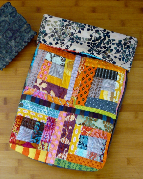 "patchwork, scrap, scrappy, ""log cabin"" ,""cabane de rondin"", sac, bag, quilt, quilting"