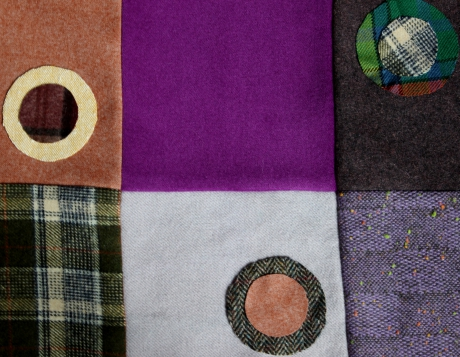 quilt, patchwork, laine, wool, vintage,plaid, rags, penny rugs