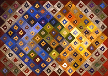 janet steadman, quilt, quilting, contemporary, patchwork, contemporain, tissus, fabrics, vol d'oies, pattern, motif
