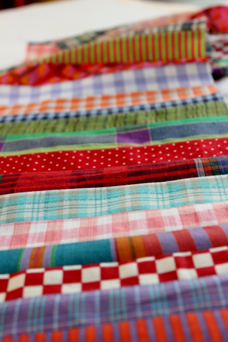 quilt, rubans, ribbons, chemises, carreaux, rayures, stripes, patchwork