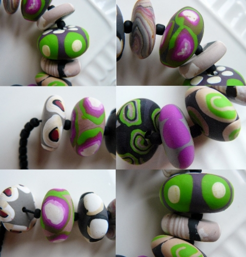 fimo, collier, polymer, clay, perle, bead, necklace